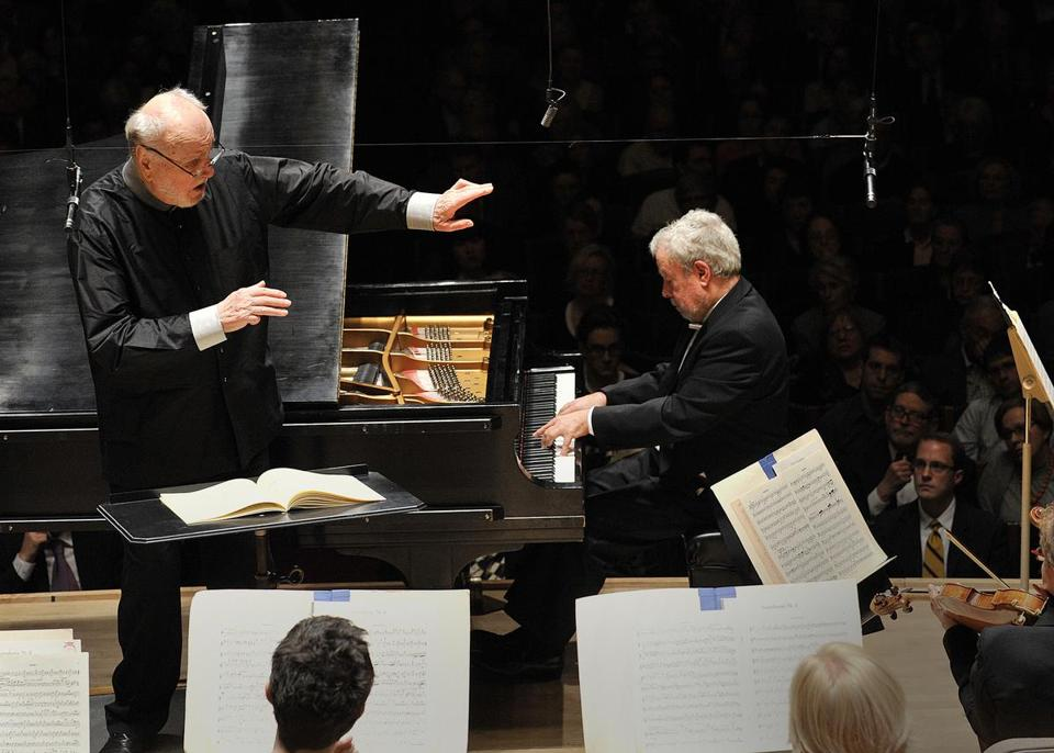 Kurt Masur leads the BSO and pianist Nelson Freire at Symphony Hall.
